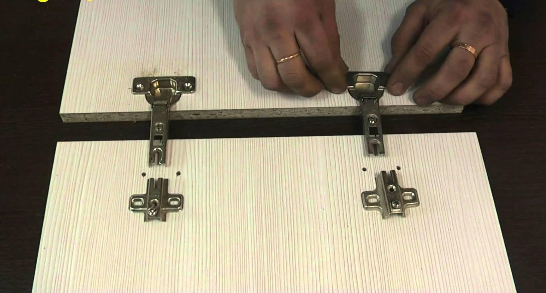 Монтаж мебельных петель